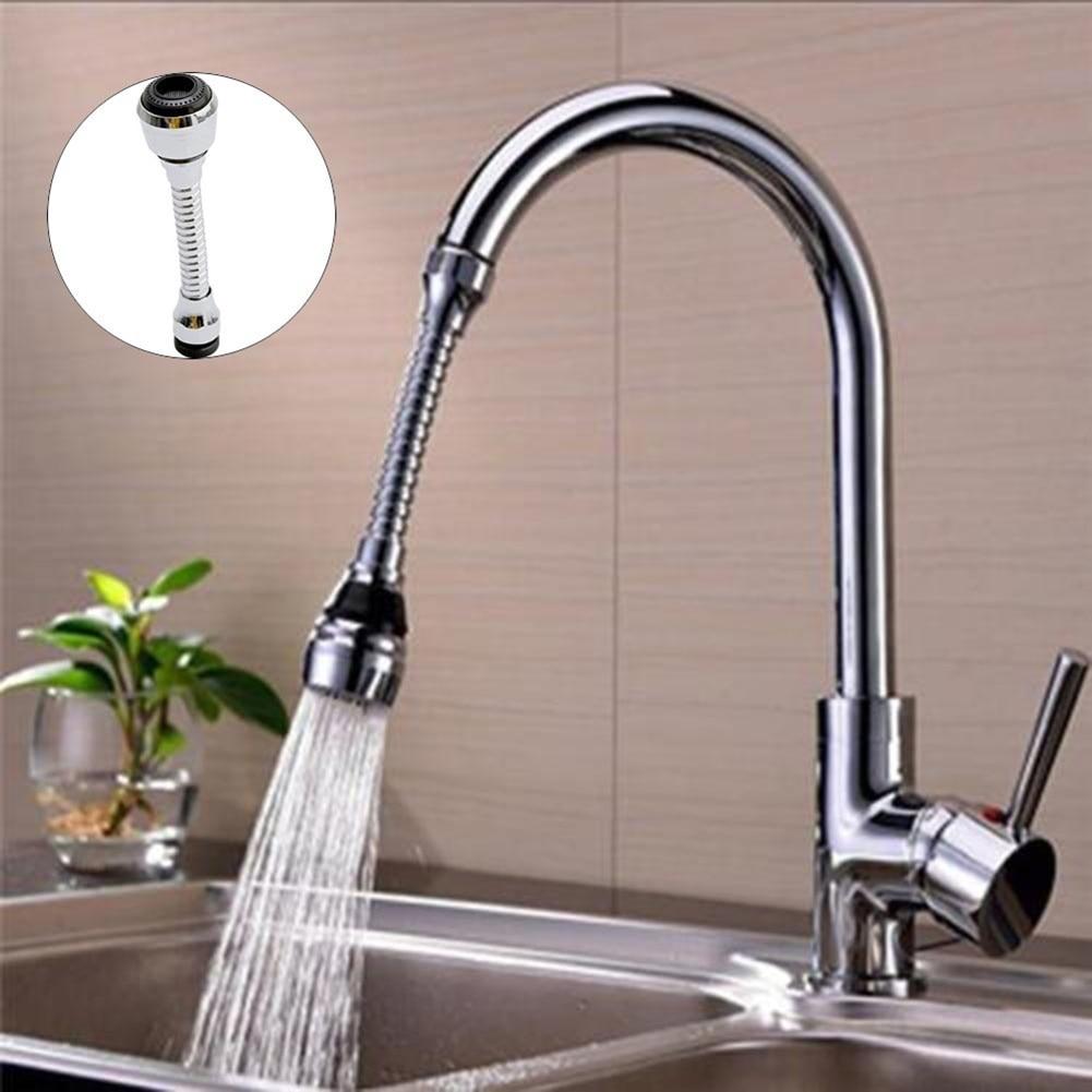 360 Degree Sink Mixer Kitchen Chromed Swivel Tap Faucet Nozzle Sprayer Aerators 22 x 24mm Kitchen Bathroom Fixture