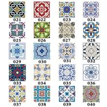 Stickers muraux de bricolage en PVC   15 pièces/ensemble, carrelage de sol, diagonale, décoration de cuisine, Art Mural, salle de bains, carrelage de verre, ligne de taille