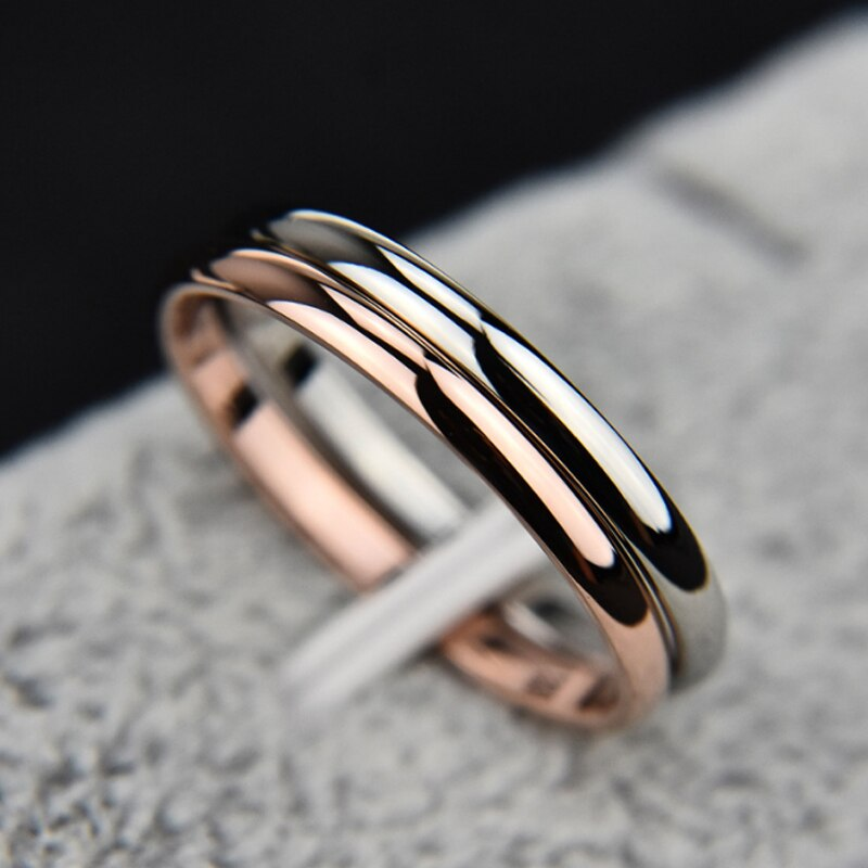 Hot 1PC Simple Unisex 2mm Women Men Anniversary Solid Couples Rings Wedding Alloy Smooth Fashion Jewelry Gift
