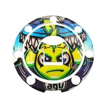 Motorcycle For Honda Universal Case All Model Gel Fuel Oil Tank Pad Fish Bone Applique Sticker Decorative Protector