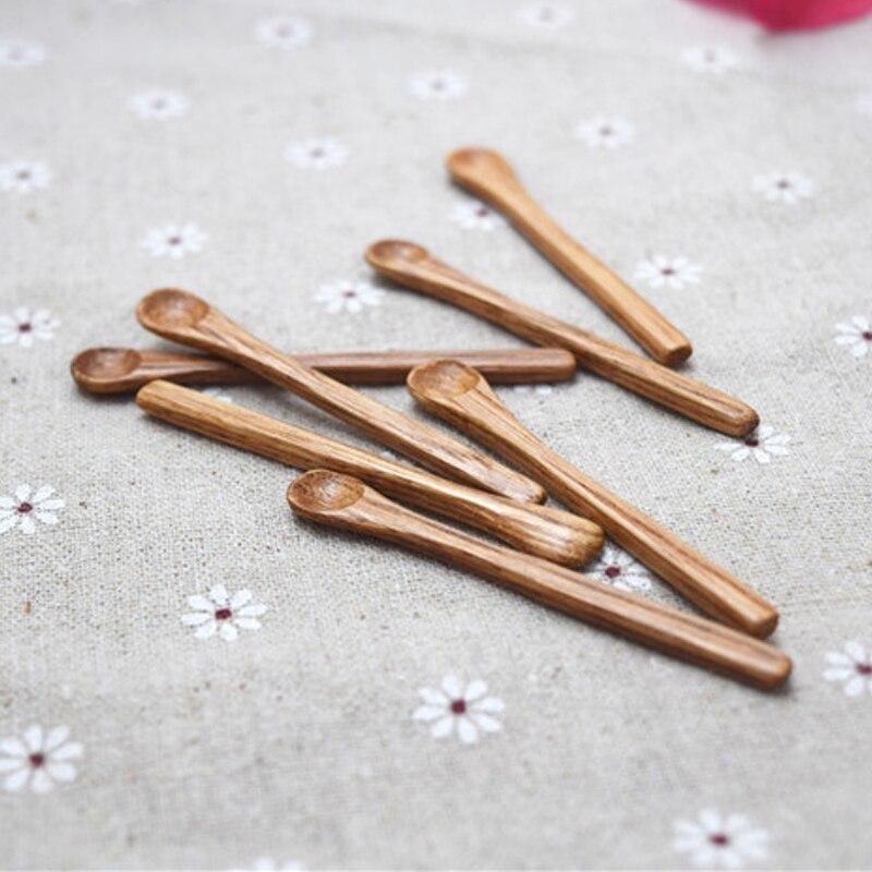 AIRCHR 50 unids/lote Super Mini cucharas de madera 7*0,8 cm especias Gram cuchara de bebé