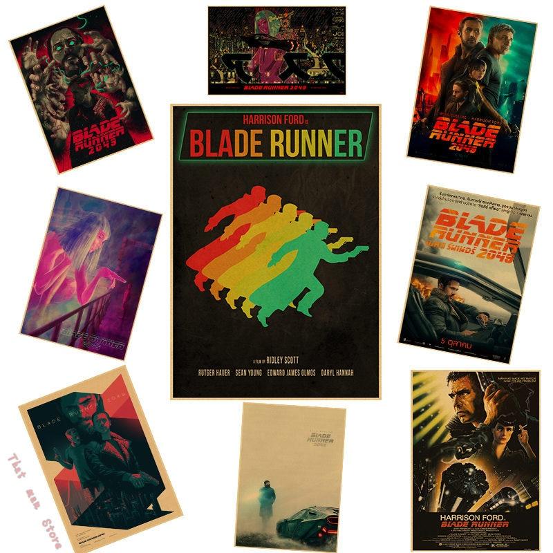 Винтажный постер Blade Runner 2049 ryan gosling украшение для домашнего интерьера крафт-постер из фильма Рисование ядра наклейки на стену 42*30 см