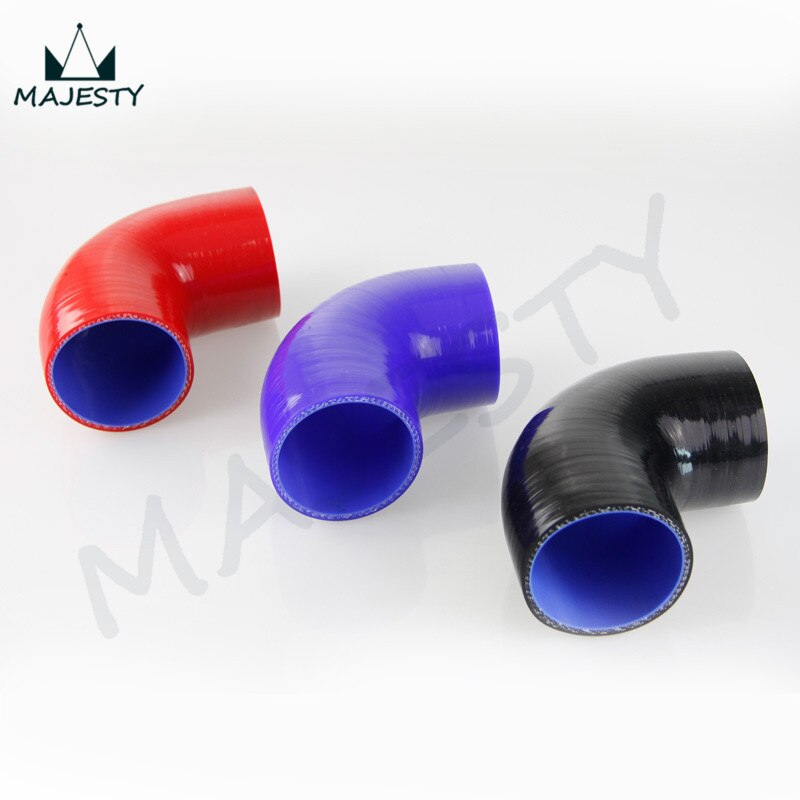 "De las mangueras de silicona 90 grados estándar codo Hos 76mm 3 ""pulgadas A3 A4 A5 A6 Q7 90 grado 5 uds"