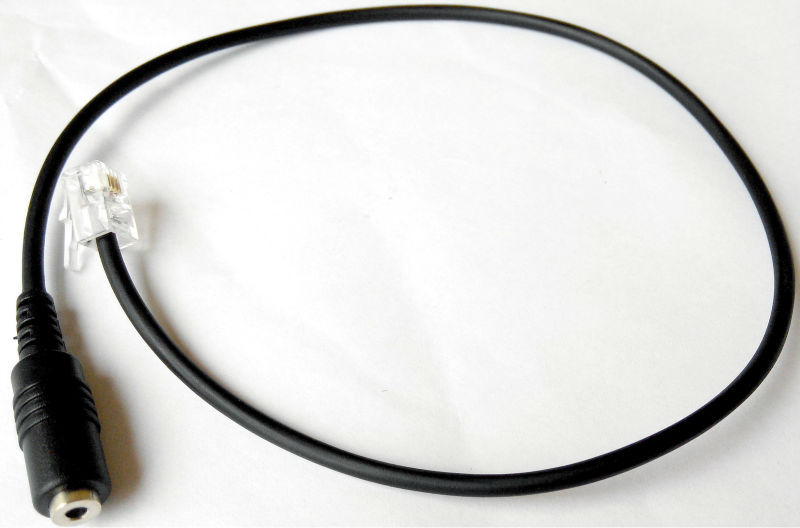 O Envio gratuito de Telefone adaptador de Fone de ouvido 2.5mm jack para adaptador RJ9 RJ9 a 2.5 adaptador 24XX 46XX series Nortel AVAYA Mitel meridiano