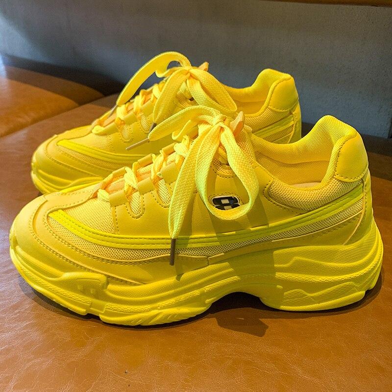 Zapatillas de deporte de moda color caramelo de malla de ventilación cómodos zapatos casuales de moda mujer Zapatillas Ulzzang Zapatos mujer