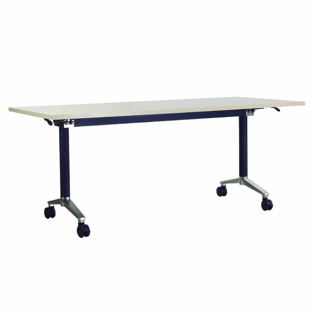0314YC99-15 متعددة الوظائف الربط للطي مكتب طاولة تدريب إطار فولاذي طالب العمل مكتب مكتب اجتماع اجتماع