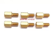 10 piezas 4 + 6 Pilares de cobre M3 4 MM placa de circuito de altura columna instalada