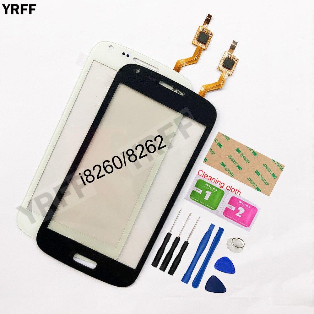 Мобильный сенсорный экран для Samsung Galaxy Core I8260 I8262 сенсорный экран дигитайзер Сенсорная панель замена переднее стекло объектив сенсор