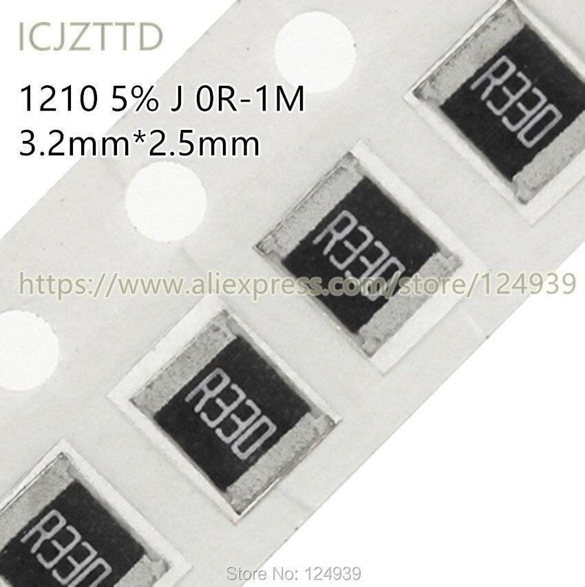 100 PCS SMD 1210 3.2*2.5 1/3 W 5% J 3225 270R 300R 330R 360R 390R 430R 470R 510R 560R 620R 680R 750R 820R 910R 1 K 1.1 K 1K1