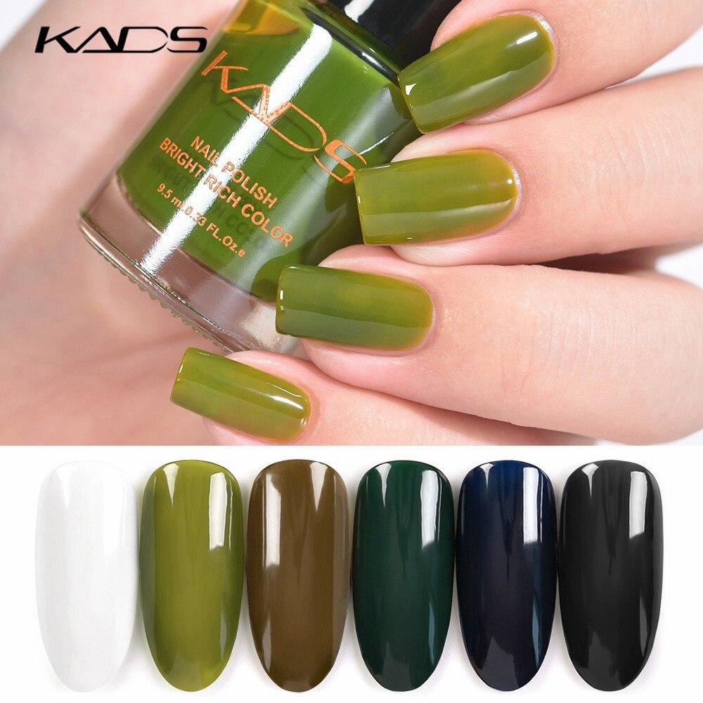 KADS Jelly Nail Polish 9.5ml 12 Candy Color Semi-transparent Nail Lacquer Manicure Translucent Jell Varnish Polish for Nail Art