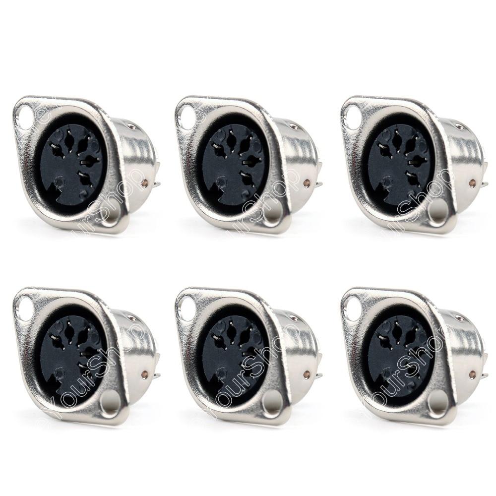 Areyourshop adaptateur connecteur de câble 5 broches   50 pièces, Din Jack femelle, support de panneau, soudure minij