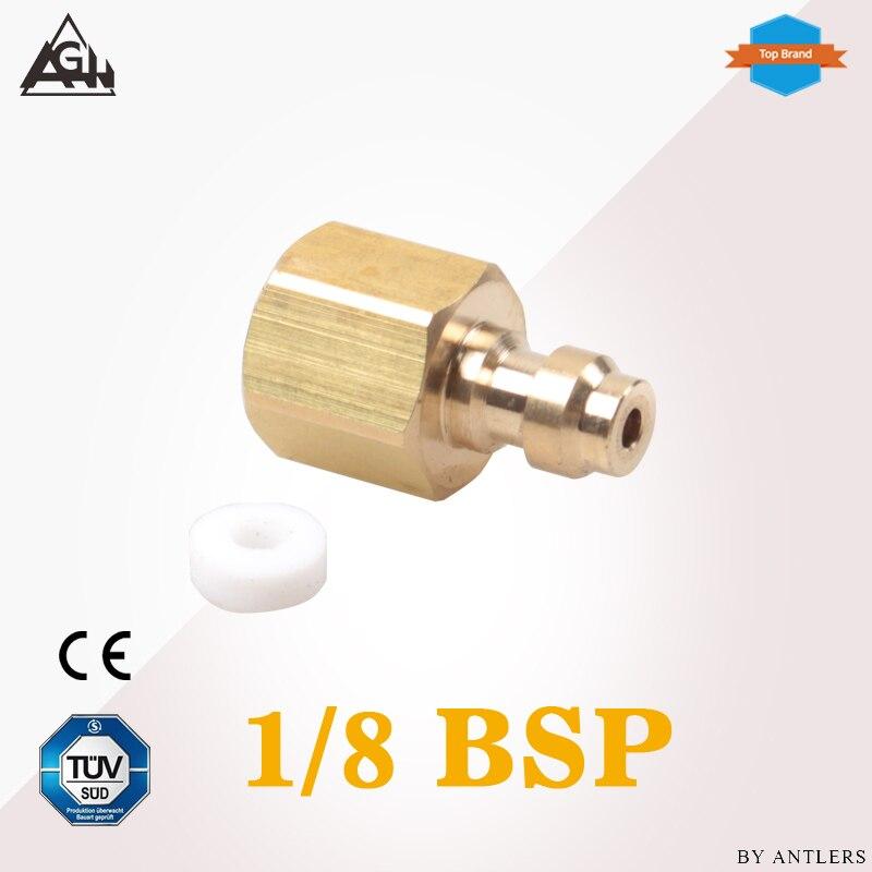 1/8 BSP rosca aire Pcp bomba de mano adaptador de compresor 8mm llenado Paintball pistola de aire de airsoft PCP macho adaptador de desconexión rápida