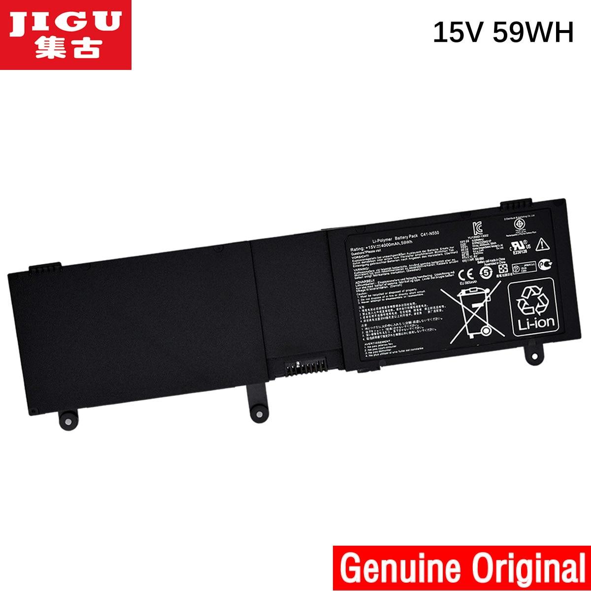 JIGU nuevo Original batería portátil de alta calidad para ASUS C41-N550 N550 N550X47JV N550J