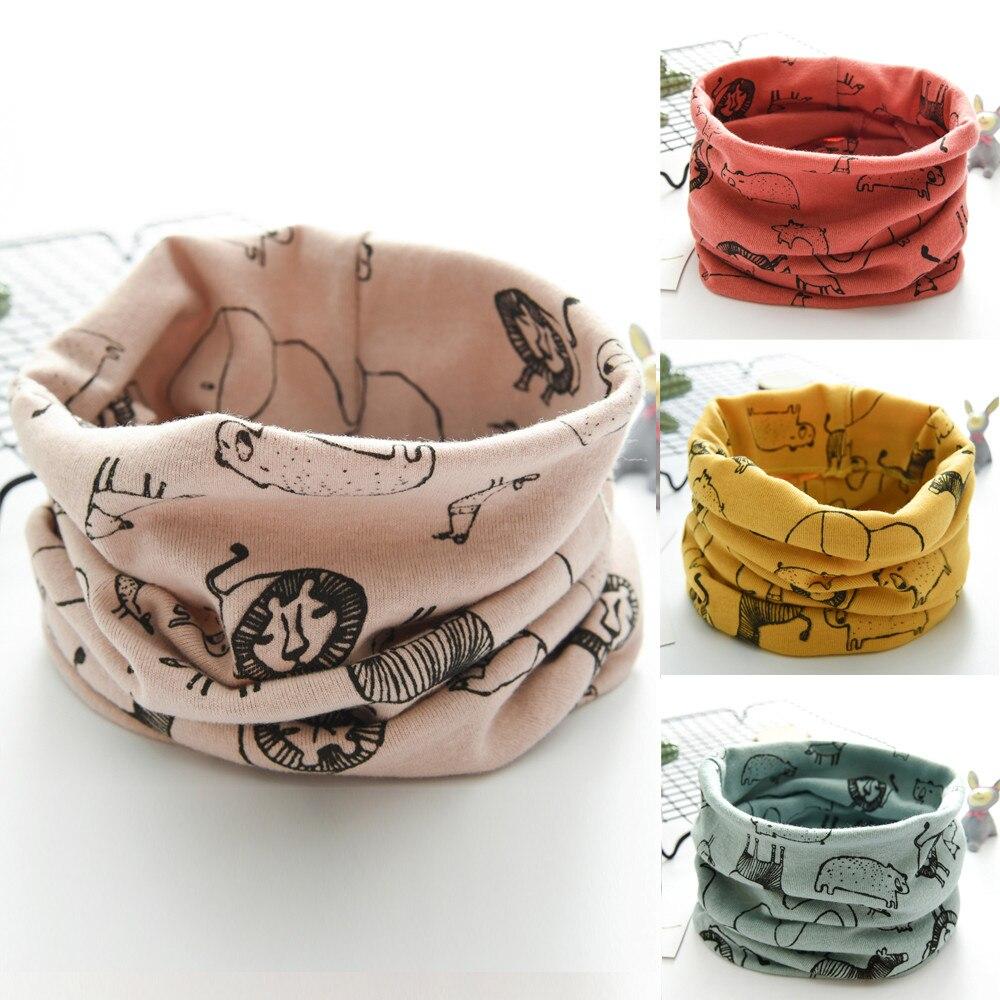 Nuevo LIC para niños, Otoño Invierno, tractores para niños y niñas, bufanda de algodón con cuello redondo, bufandas para invierno, bufanda para bebés y niños, anillo de lana