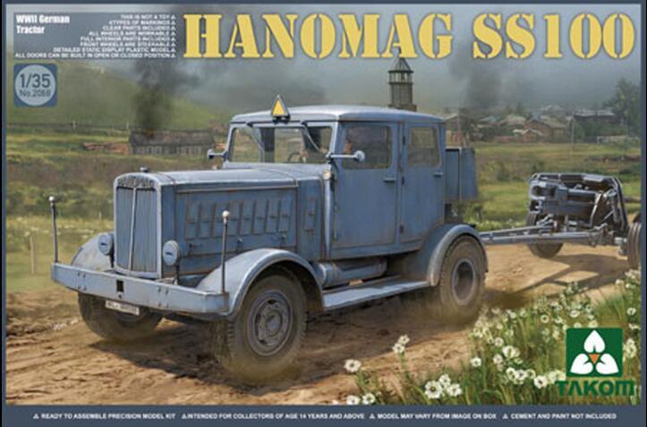 Takom 1/35 Hanomag SS100, Tractor alemán de la Segunda Guerra Mundial #2068