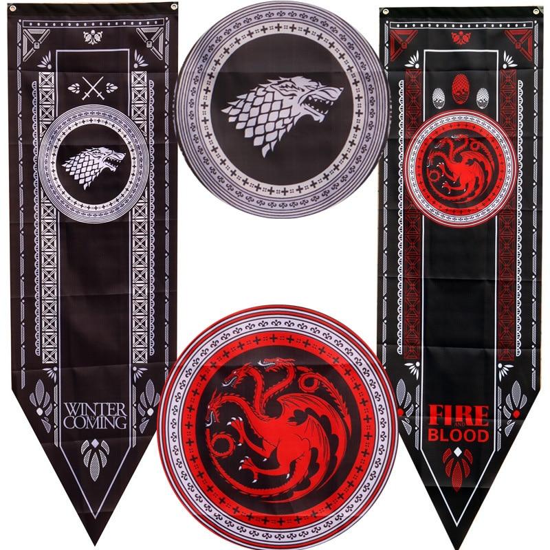 Игра престолов, баннерный Flag Старк Tully Таргариен Ланнистер Баратеон мартлет Болтон, украшение для дома с изображением флага