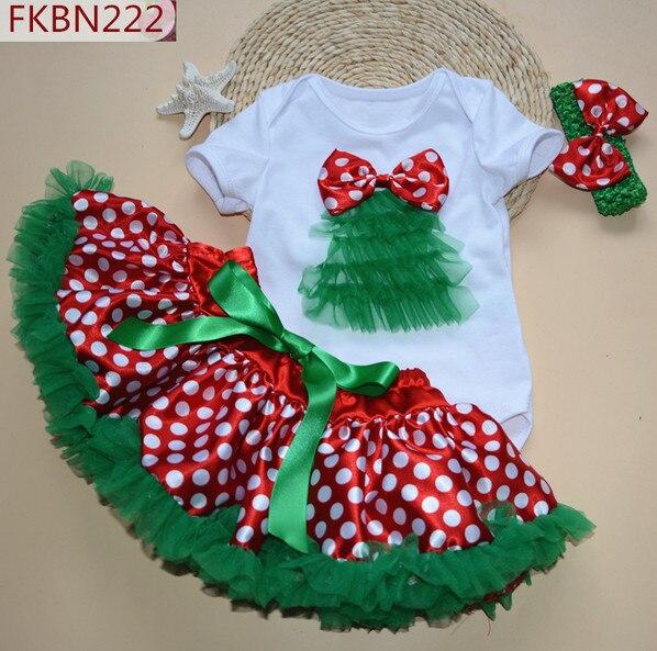 Baby Mädchen Weihnachten Kleidung Set Cartoon Santa Claus Neugeborenen Strampler Spitze puff röcke bogen haar band Kinder Kinder tutu sets