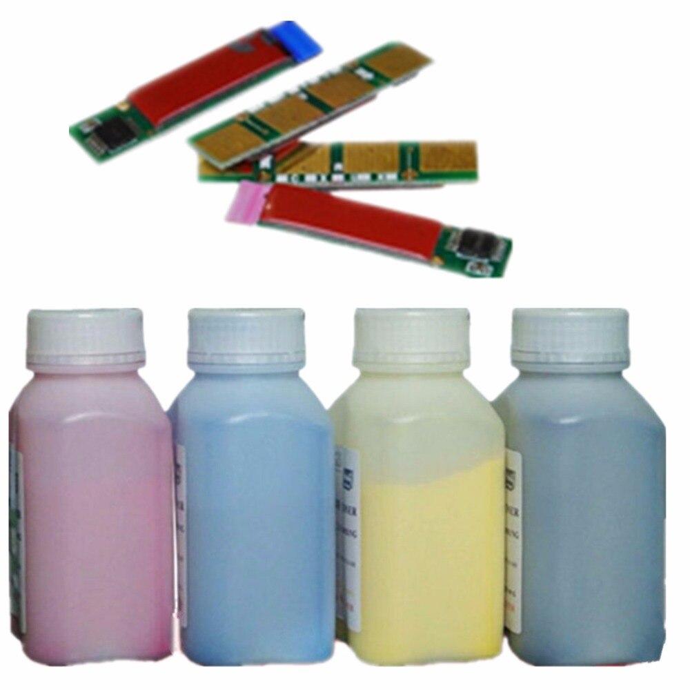 4 Kits de recarga de tóner láser en polvo + Chips para impresora Samsung CLP 415N 415NW 470 475 CLX 4195 4195N 4195FN 4195FW CLT-K504