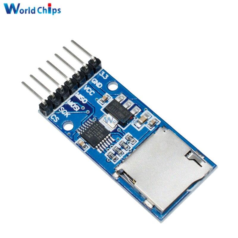 Micro SD Speicher Board TF Karte Memory Shield Modul SPI Interface Level-Converter Für Arduino 3,3 V 5V Regler schaltung