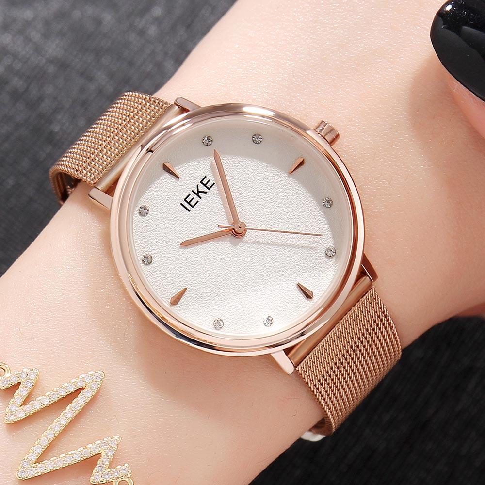Luxury Rose Gold Women Watch Rhinestone Starry Wrist Watch For Ladies Female Wristwatch Waterproof reloj mujer relogio feminino