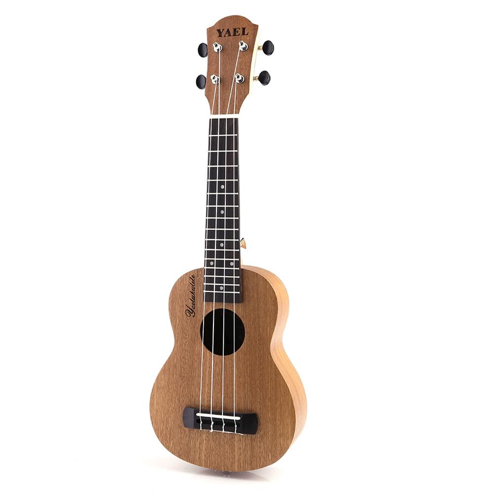 Ukelele de dibujos animados de caoba de 21 pulgadas, guitarra de sapeli, palisandro, 4 cuerdas, bolso musical Hawaiano para guitarra, instrumentos para principiantes