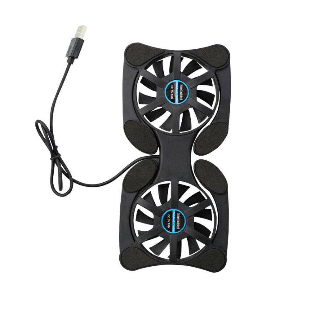 Ventilador de refrigeración USB plegable enfriador de CPU Mini Octopus almohadilla enfriador silencioso soporte doble ventiladores para portátil de 7-15 pulgadas