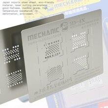 MONTEUR 3D-4X 3D Gegroefde Reballing Stencil Voor PCIE/NAND/Hard Disk iPhone XR XS max XS X 8 P 8 7 P 7 6SP iPad 2/3/4 Air Reparatie