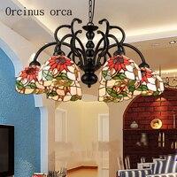 Mediterranean style garden chandeliers living room bedroom restaurant European warm and romantic sun flower chandelier