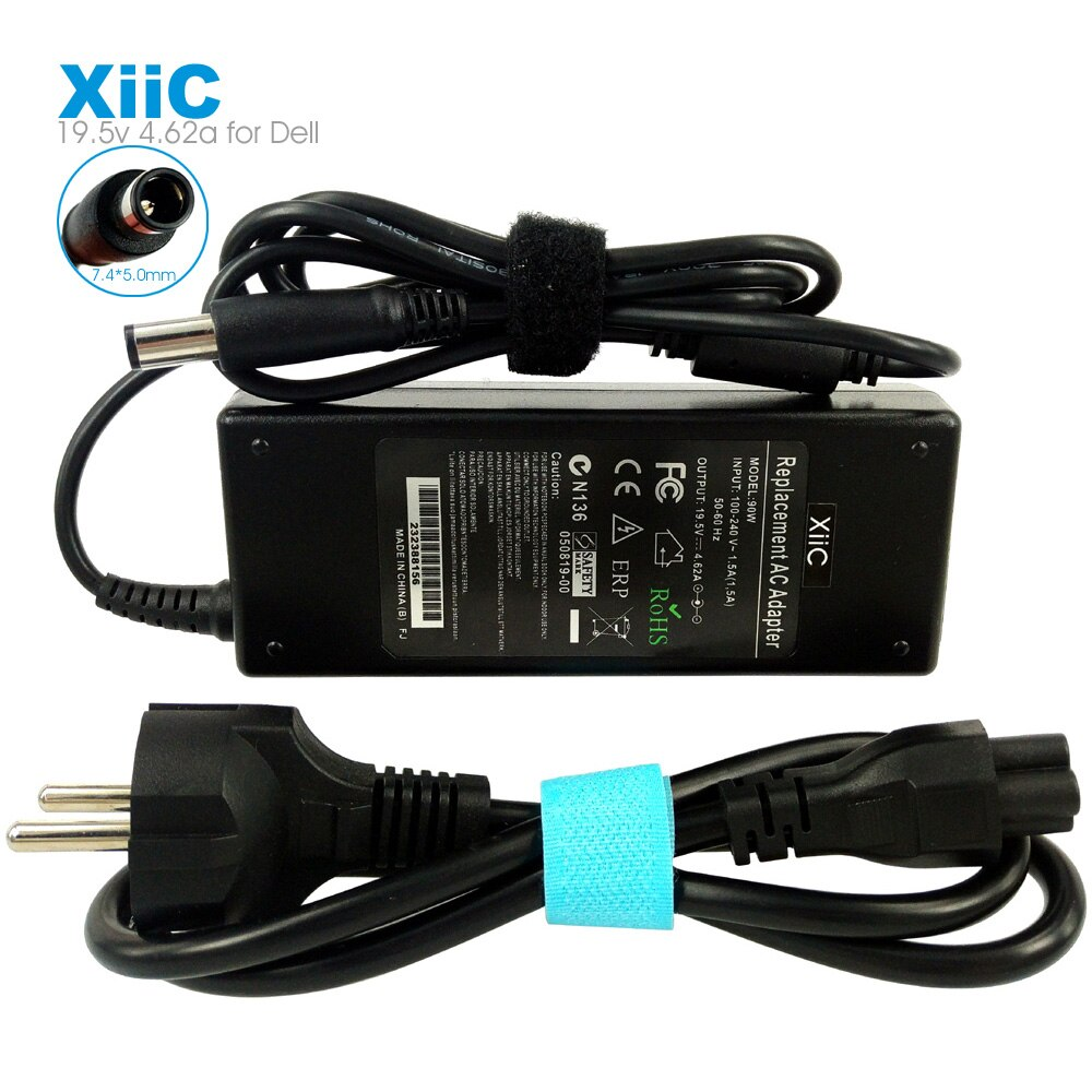 XiiC 19,5 v 4.62a 90w 7,4*5,0mm adaptador de CA del ordenador portátil para Dell Latitude N5110 N5010 E6420 N7010 E6410 E6430 E6320 E6330 E5420 E5410