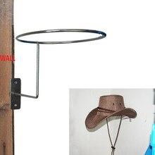 Sombrero de vaquero-Protector de sombrero/soporte de gancho para montar casco de pared-Metal