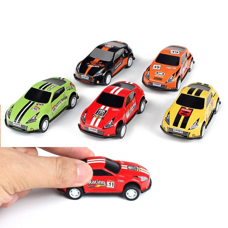 (Juego de 6) Mini molde de coche de juguete extraíble coches de aleación vehículos de dibujos animados carreras niños juguetes de bolsillo modelo caliente guardería regalo juguetes 2019
