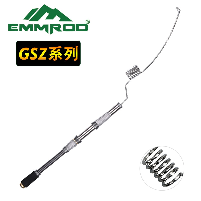 Casting Rod EMMROD Stainless Steel Portable Bait Casting Fishing Rod 72cm Telescopic Fishing Rod Rock Fishing Rod GSQ enlarge