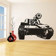 Military Tank Vinyl Wand Aufkleber Wand Dekoration UNS Truppe Tank Wand Kunst Aufkleber Military Design Wand Kunst Poster AZ251