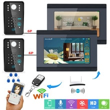 YobangSecurity Video Intercom 7Inch LCD Wifi Wireless Video Door Phone Doorbell 2 Camera 2 Monitor Password RFID Unlock Intercom