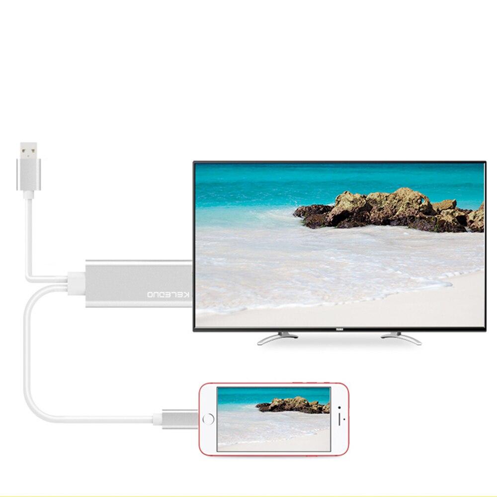Vapeonly HDMI кабель 2 м USB к HDMI конвертер телефон к проектору ТВ разъем HD 1080P цифровой av-кабель для iPhone 8/7/6S Plus