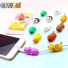 1Pcs Cable Bites Protector For Iphone Cable Winder Phone holder Accessory Chompers Cartoon Animals Doll Model Funny Toys