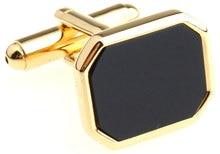 Mens Jewelry  simulate Onyx Cufflinks for mens gold Color Plated French Shirt cuff Groom Wedding Cuff links gemelos cufflinks