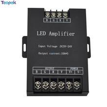 RGB Led усилитель контроллер на входе 5V 12V 24V 10A * 3 30A ретранслятор сигнала 360W для светодиодной ленты 3528 5050 RGB