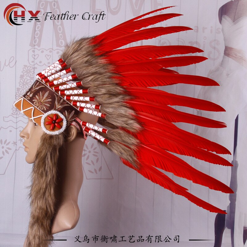 Riginal indians DIY  a savage costume party props exaggerating creative catwalk runways stage headdress feathers