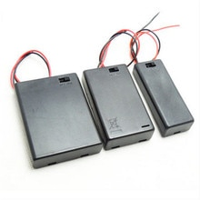 Soporte de batería AAA caja de batería completamente sellada tapa de caja de batería AAA con interruptor de línea 3V/4,5 V/6V batería