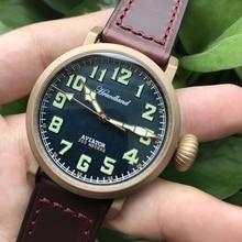 Hommes Pilot rétro montres Cusn8 Bronze plongeur montre-bracelet 300m verre saphir résistant à leau mouvement suisse montre pour hommes homme