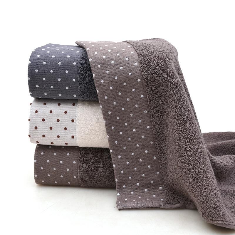 35x75cm Large Cotton Bathtub Shower Towel Thick Towel Household Bathroom Adult Hotel Children's Face Towel Saliva Washcloth