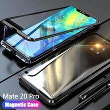 20X étui pour huawei Mate 20 Pro Lite X Mate20 étui pour huawei de téléphone en verre magnétique mate20pro 20lite 20X accessoires de coque de couverture