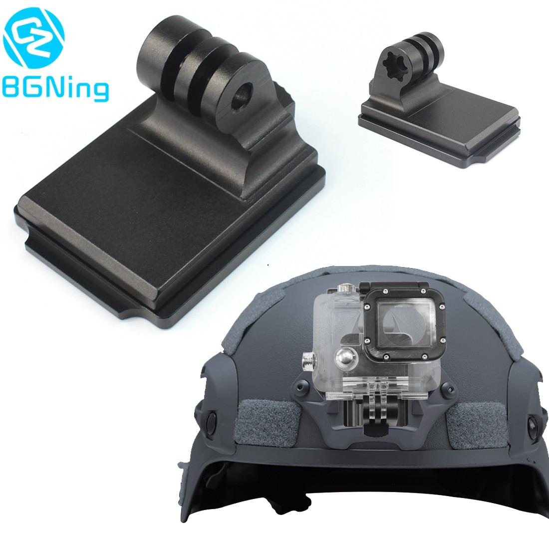 Aluminum Helmet Fixed Mount NVG Base Holder Adapter for GOPRO Hero 9 8 7 4 5 6 Session yi Sjcam EKEN Action Video Sports Cameras