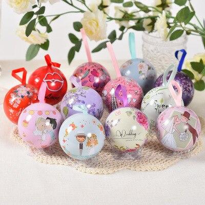 20 bolas/Set lata de Metal caja de caramelos para obsequio en boda de fiesta de Navidad de envasado, caja de bombones pequeñas cajas de regalos