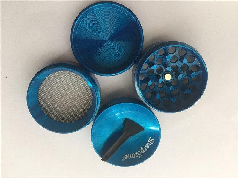 2pcs/lot 4pc 40mm Zinc Alloy CNC Metal  SharpStone Herb Grinder Crusher Tobacco Sharp Stone Grinder concave Cap grinder