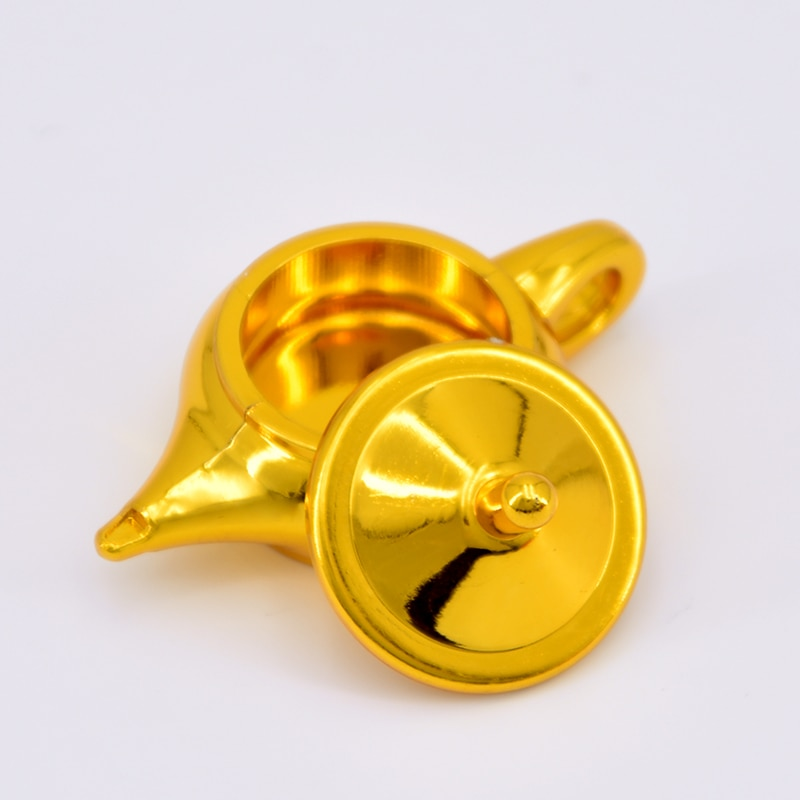 1 lámpara maravillosa-trucos de Magia de mago de Color dorado Close Up accesorios para trucos de ilusionismo mentalismo moneda que aparece desaparece Magia