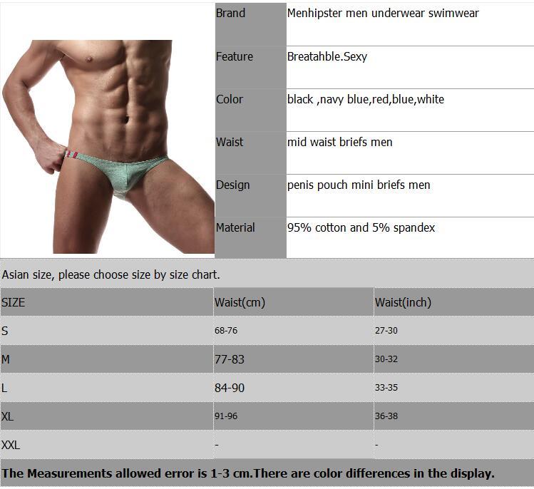 Mini Briefs Men Cotton Sexy Mens Underwear Penis Pouch Bikini Swimwear Panties Low Waist Breathable Comfortable Underpants Brand