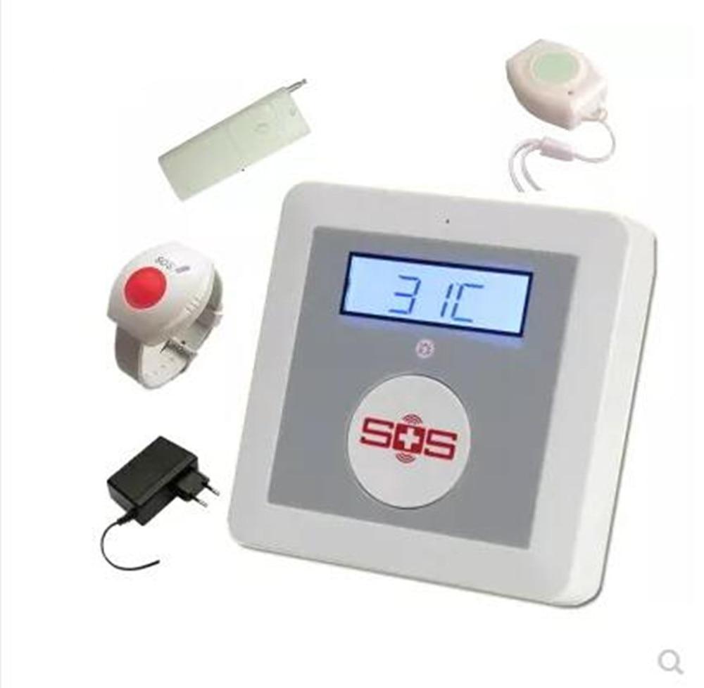 Gsm discador de alarme para idosos SOS de emergência sem fio gsm sms sistema de alarme home