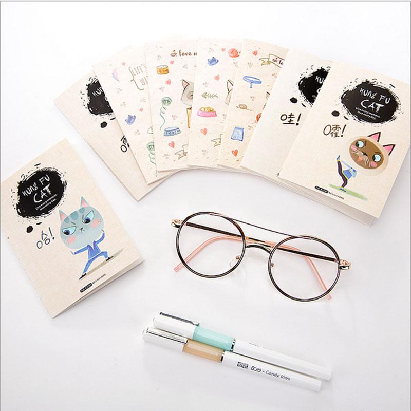 1X kawaii Cute kitten sketchbook material escolar agenda cuadernos journal  personal diaries nootbook  School office stationery
